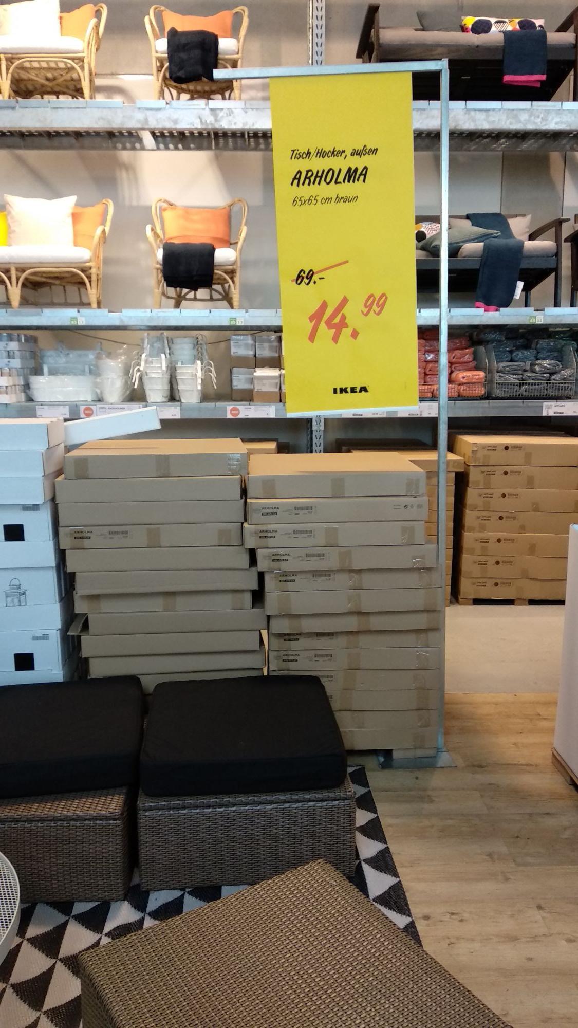 [Ikea Lichtenberg] ARHOLMA Tisch/Hocker, braun