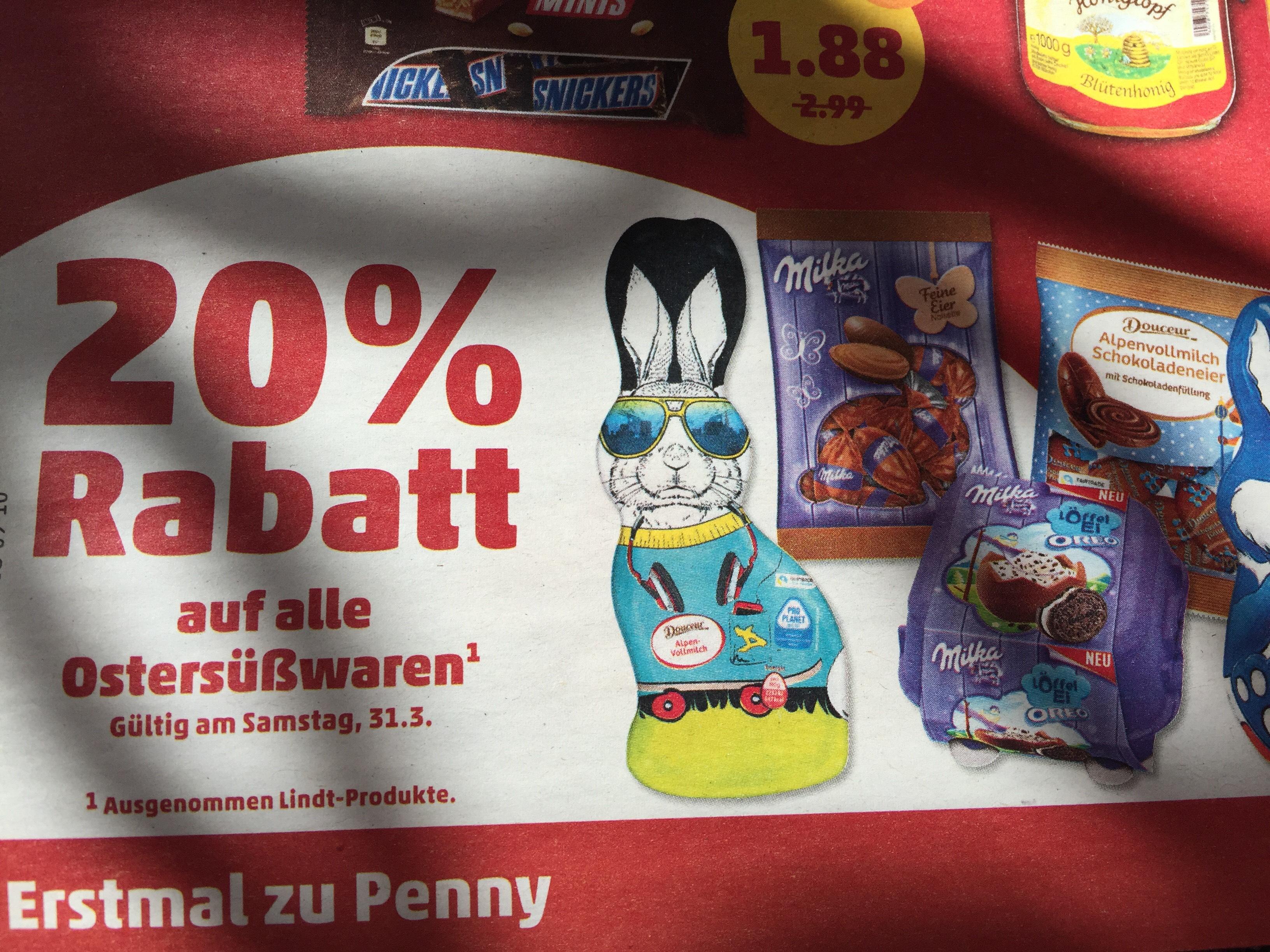 [Penny] 20% Rabatt auf alle Ostersüsswaren