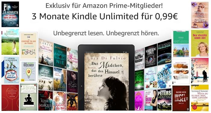[Amazon Prime] 3 Monate Kindle Unlimited (Neukunden)
