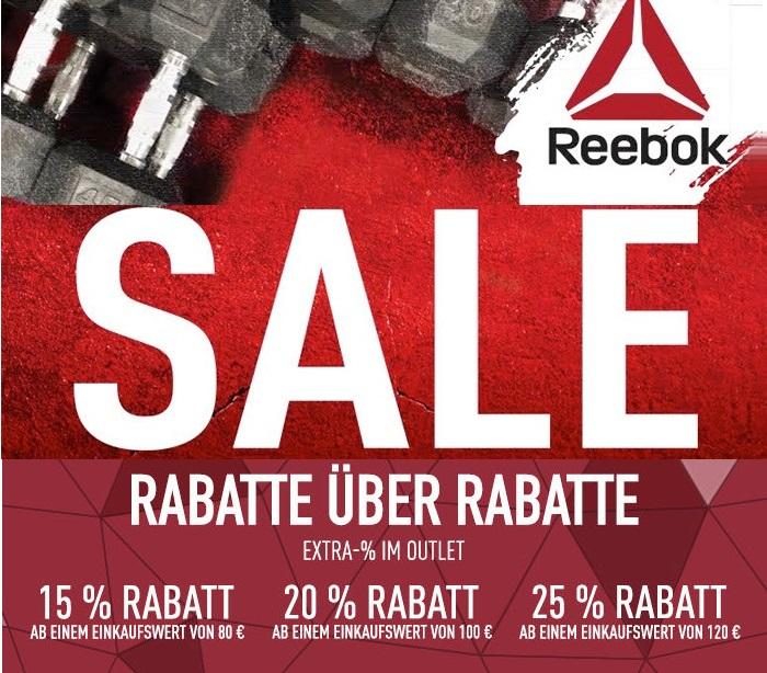Großer Reebok Outlet-Sale & bis zu 25% Extra-Rabatt auf den gesamten Einkaufswert!