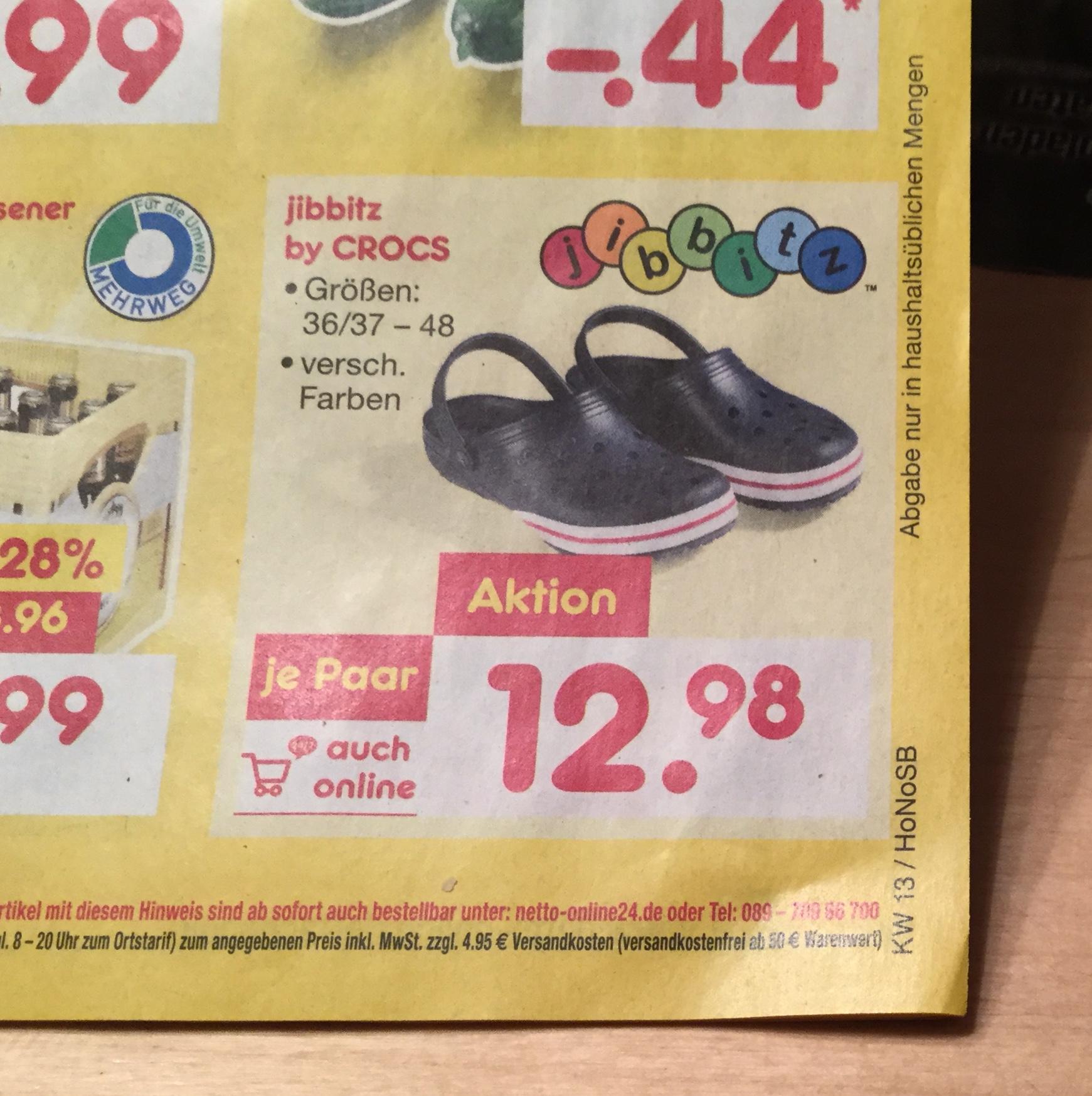 [ Netto MD ] Crocs Größe 36-48 versch. farben ab 26.03 auch online
