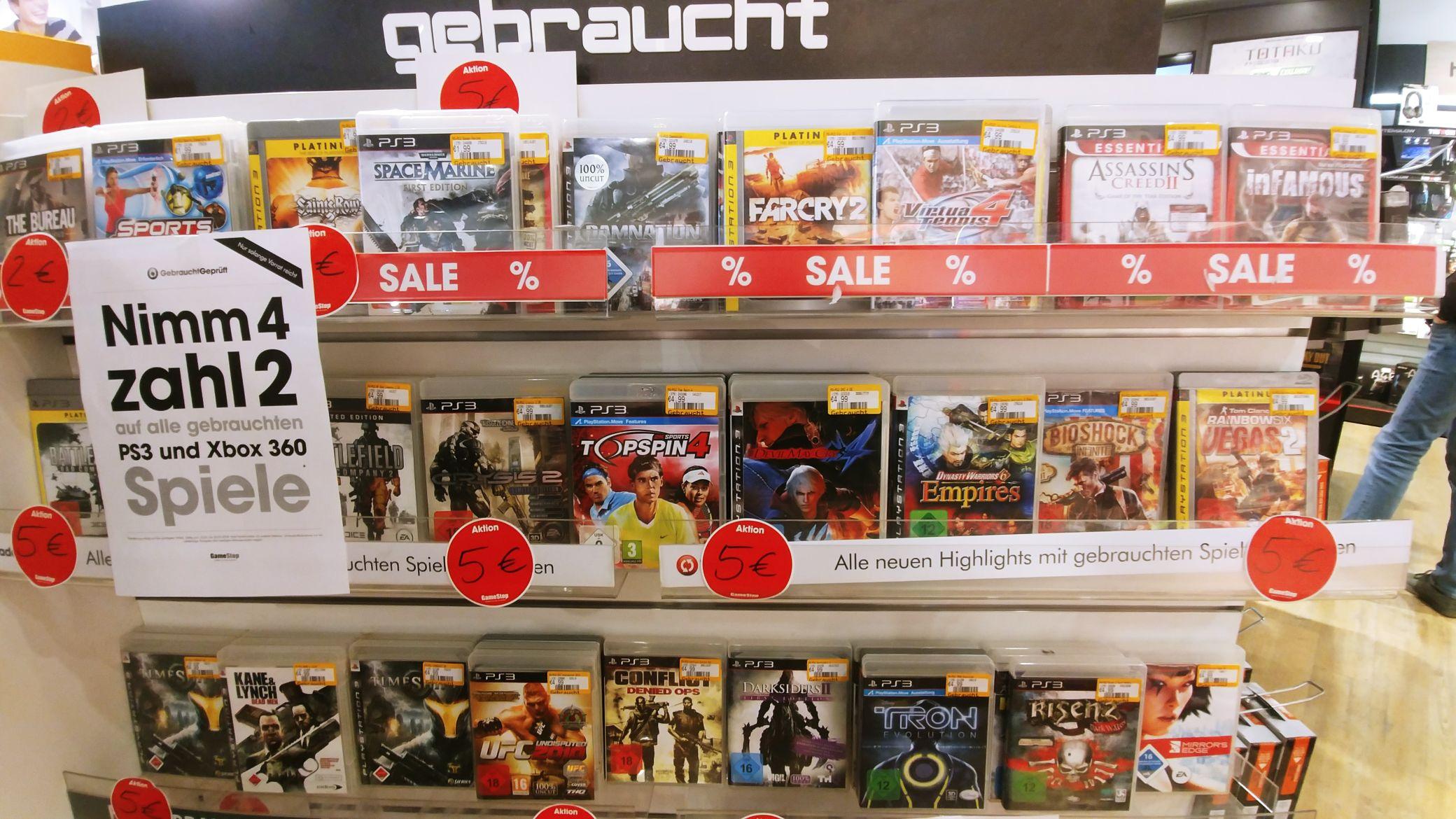 Playstation 3 (PS3) SPIELE ab 2,00€ -Game Stop RUHRPARK (LOKAL Bochum)