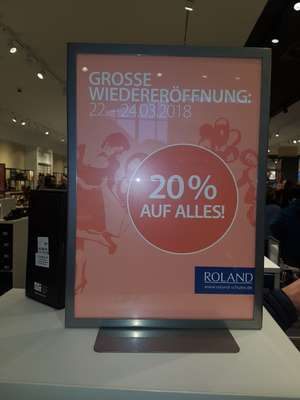 Lokal Berlin Alexa - Roland 20% auf alles bis heute