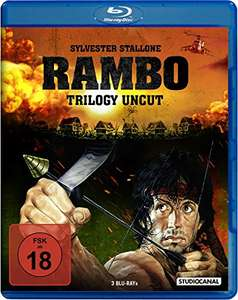 Rambo Trilogy - Uncut (Blu-ray) für 12,97€ (Amazon Blitzangebot)