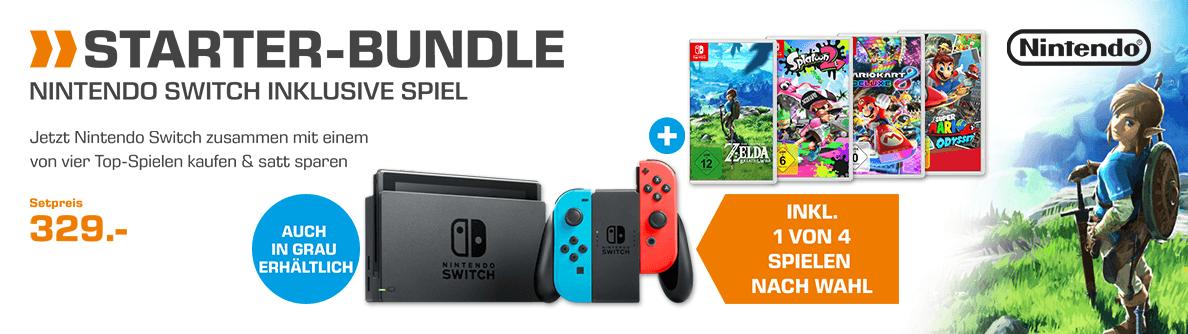 Nintendo Switch + Spiel nach Wahl (4 zur Auswahl)