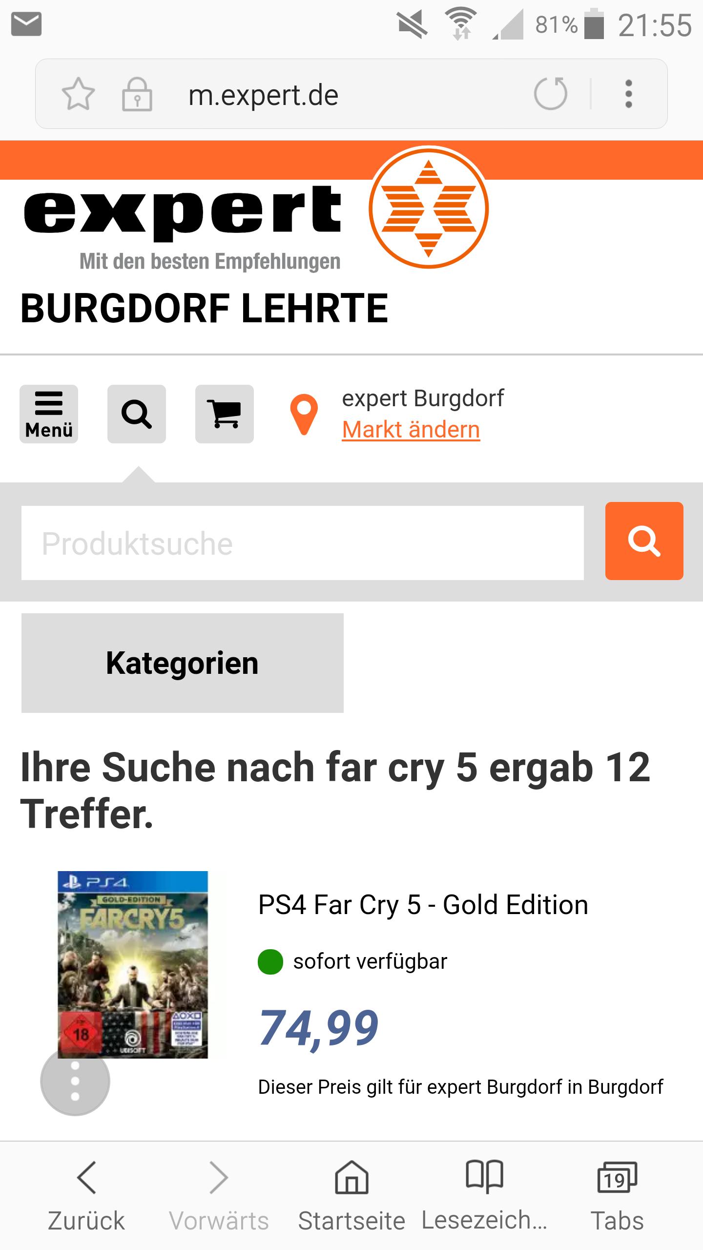 Far Cry 5 - Gold Edition (PlayStation 4) bei expert im Angebot (evtl. nur lokal/Burgdorf)