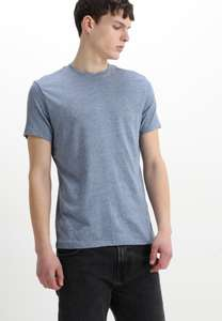 AllSaints Tonic Crew-T-Shirt Basic für Herren in aqua blue (27,95€ statt 35€)