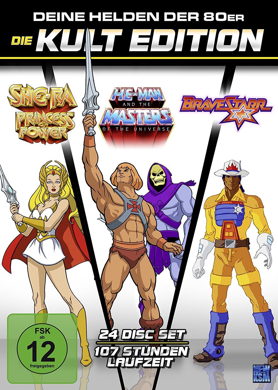 He-Man Masters of the Universe + She-Ra Prinzessin der Macht + BraveStarr - Die 80er Jahre Kult Edition (24 Disc Set DVD) für 54,99€ versandkostenfrei (Saturn & Amazon)