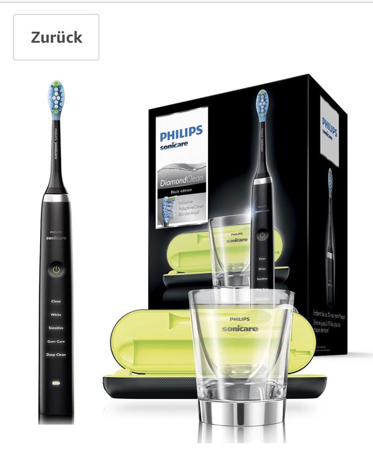 Philips Sonicare HX9359/89 elektrische Zahnbürste mit Schalltechnologie, Ladeglas, schwarz