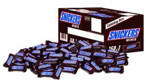 150 Minis von Snickers / Mars / Twix / Milky Way / Bounty / Balisto ab 14,99€ [Amazon]