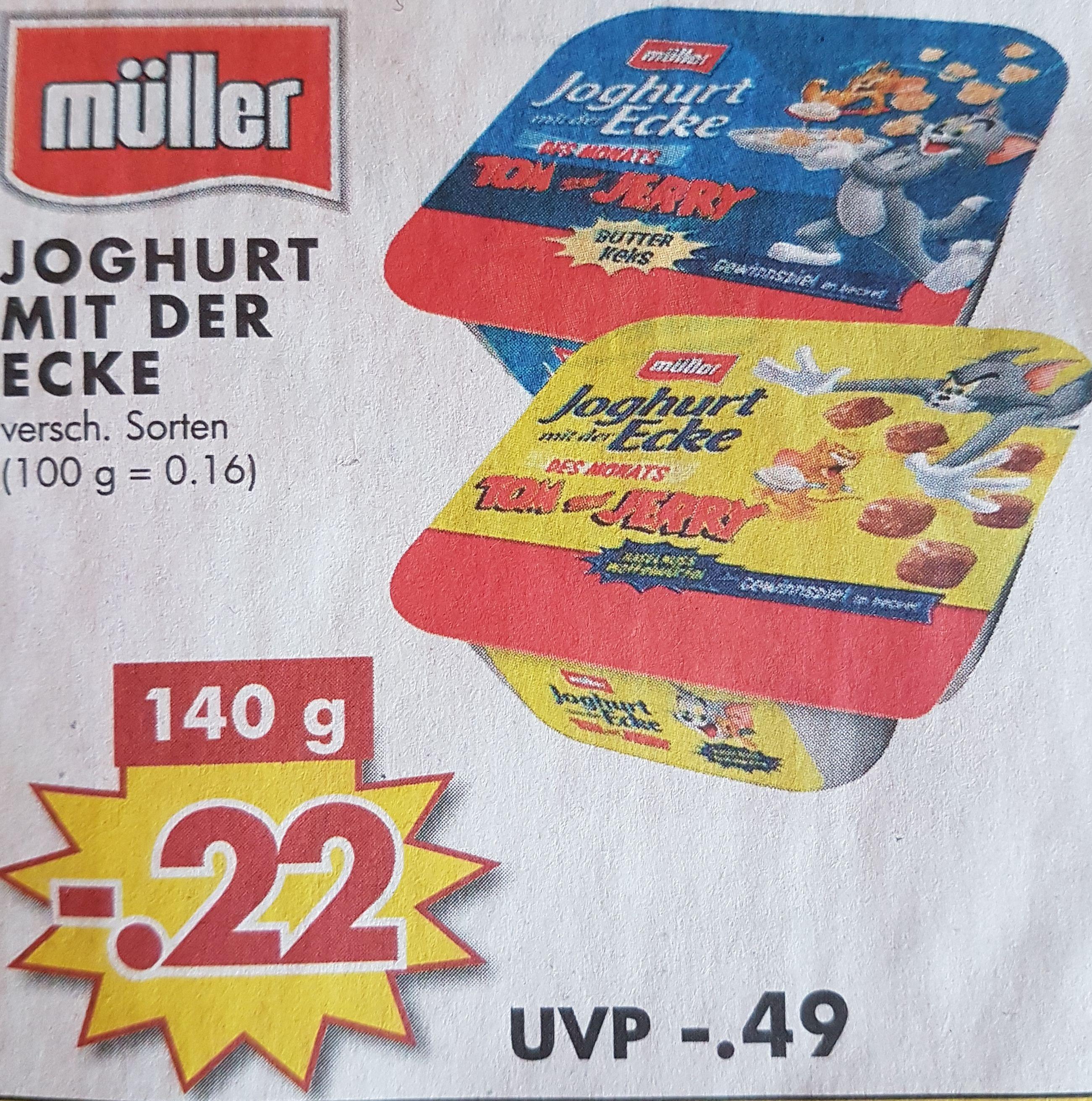 [Jawoll] Müller Joghurt mit der Ecke 140g Vers. Sorten ab 26.03.