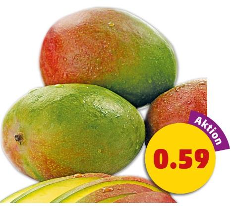 Faserarme Mangos, pro Stück für 0,59 Euro [Penny]