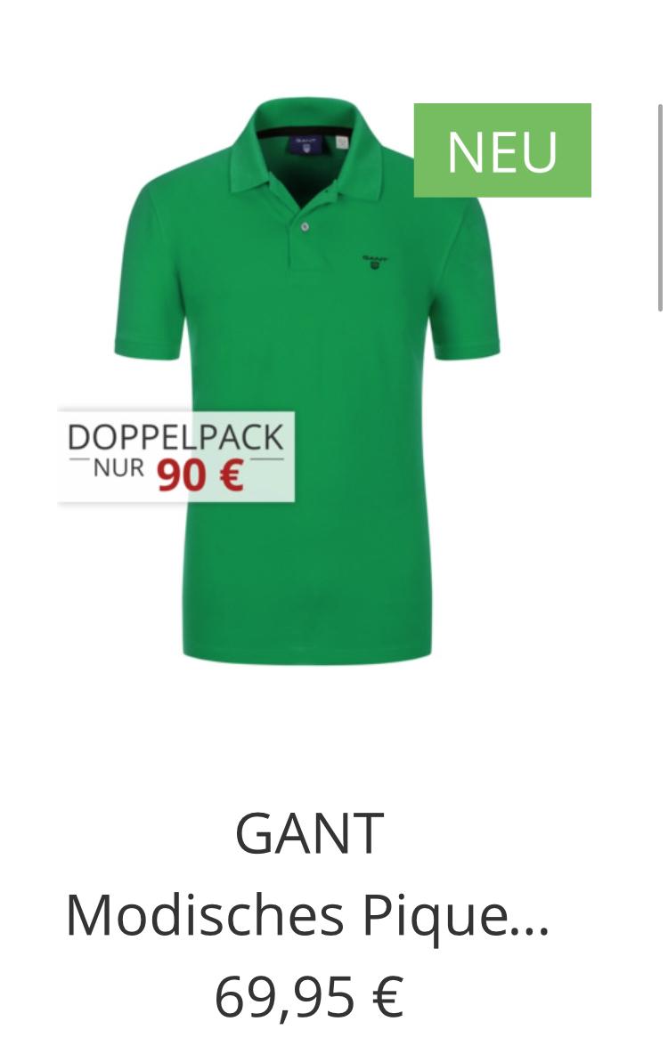 2x GANT Poloshirts in vielen Farben & Größen für 80 Euro inkl. Versand