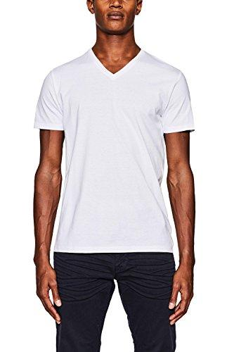 Amazon: T-Shirt Esprit V-Neck weiß 2 Stück
