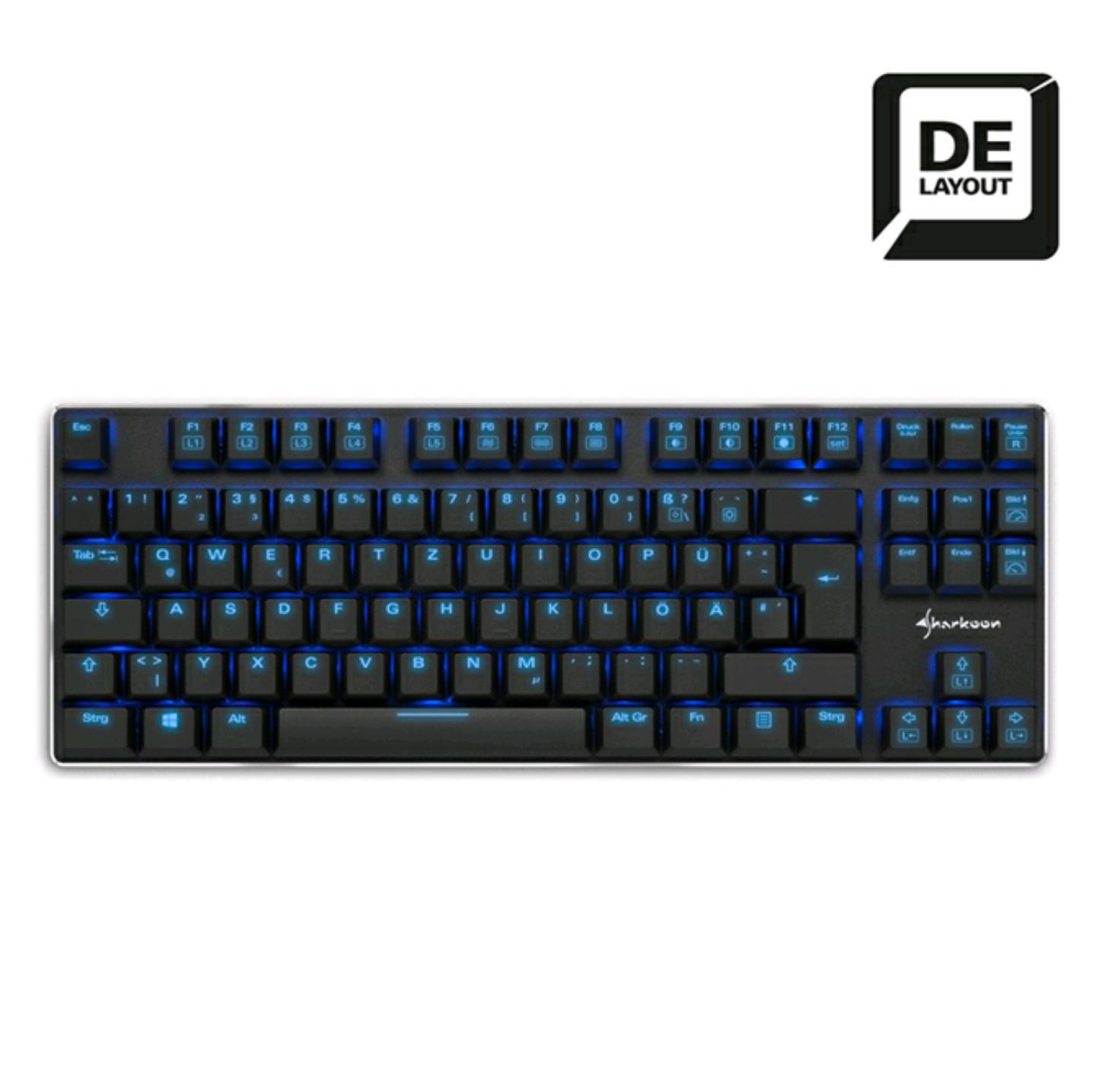 [NBB NUR NOCH HEUTE] Sharkoon PureWriter TKL Mechanische (Gaming) Tastatur Low Profile, N-Keyrollover KOSTENLOSER VERSAND