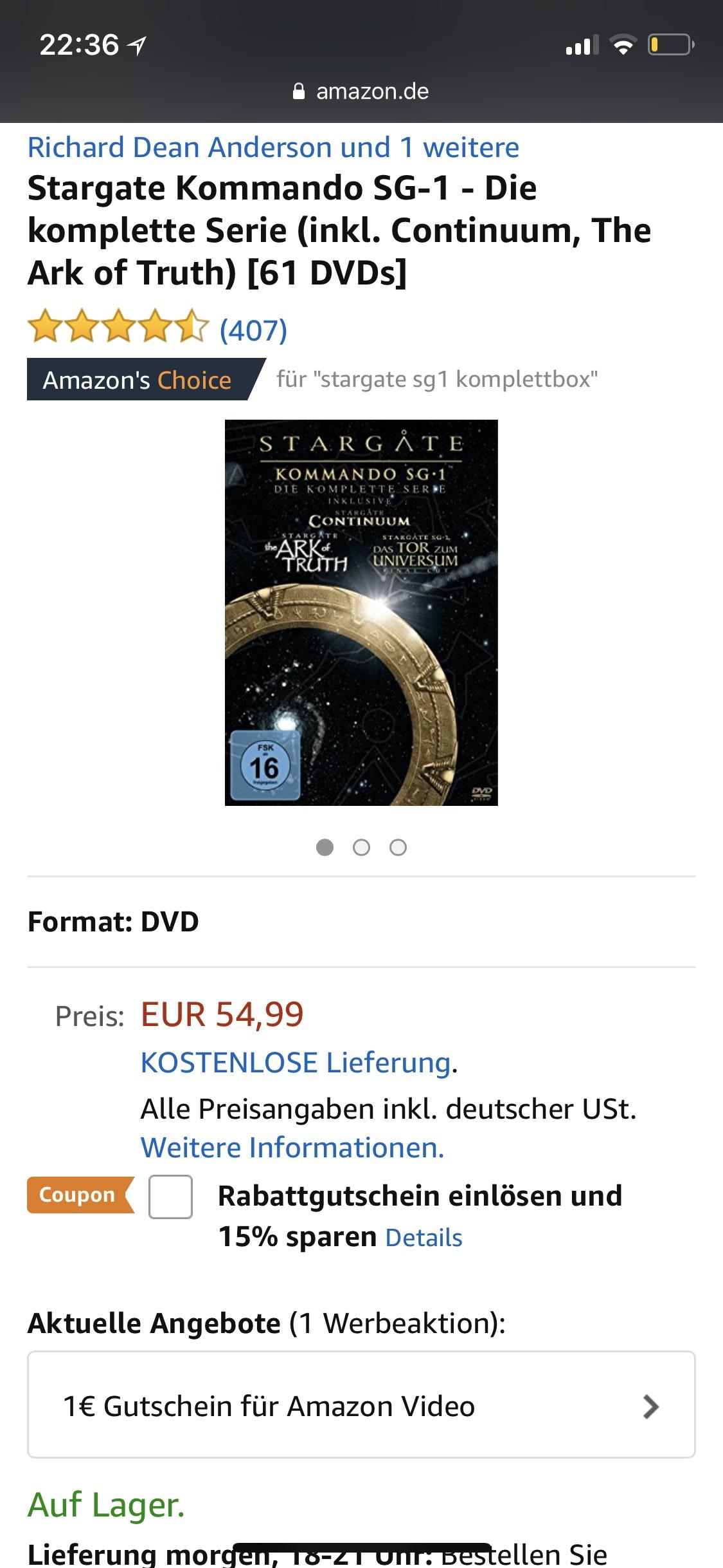 Stargate SG-1 Komplettbox
