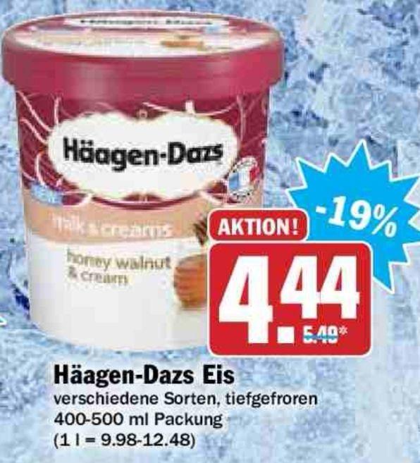 Häagen-Dazs verschiedene Sorten im Hit vom 26.03 - Karsamstag