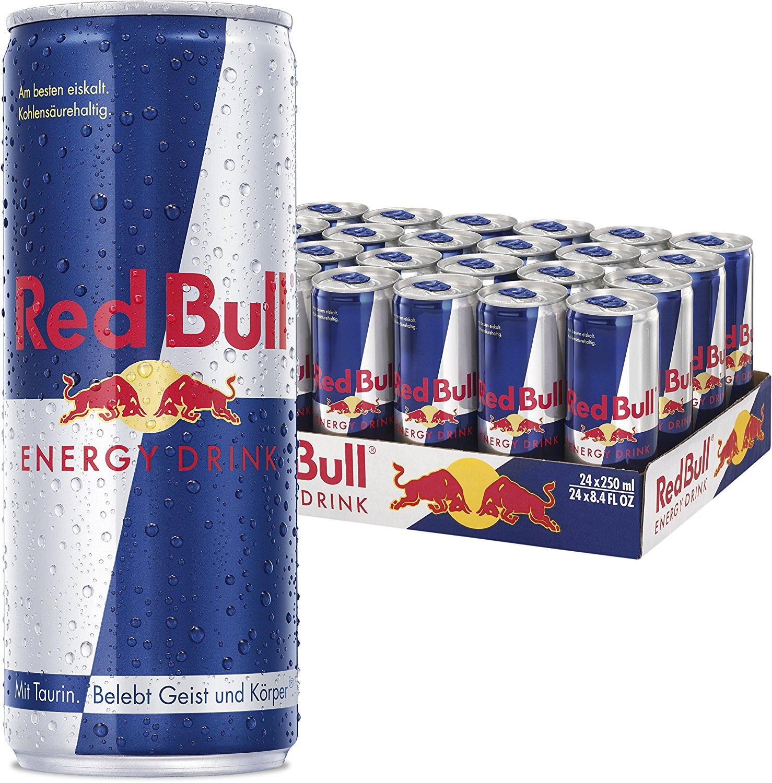 Red Bull Energy Drink, 24er Pack (24 x 250 ml) 20,42 € + 6 € Pfand
