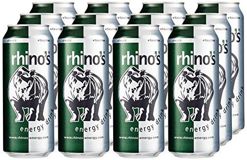 Rhino's Energy Drink Classic, 12er Pack (12 x 500 ml) für 9,99€ + 3€ Pfand / Amazon
