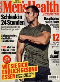 Men's Health Abo (12 Ausgaben) für 63,80 € mit 50 € Amazon-Gutschein/ Verrechnungsscheck