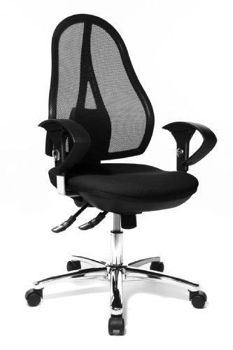 [Amazon] Topstar Open Point SY Deluxe, ergonomischer Syncro-Bandscheiben-Drehstuhl, Bürostuhl, Schreibtischstuhl, inkl. Armlehnen (höhenverstellbar), Stoff, schwarz