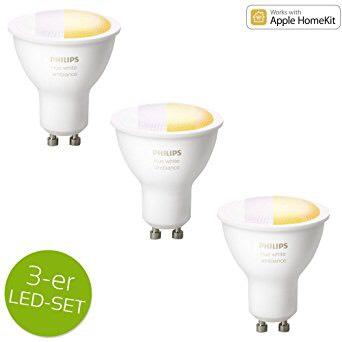 [Amazon] Philips Hue GU10 White Ambiance 3x