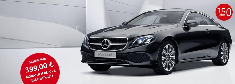 Geschäftskunden Leasing Mercedes-Benz E200 Coupé für 399 Euro im Monat netto [nur bis 31.03.2018]