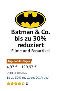 """""""Batman & Co - bis zu 30% reduziert"""" als Amazontagesdeal"""
