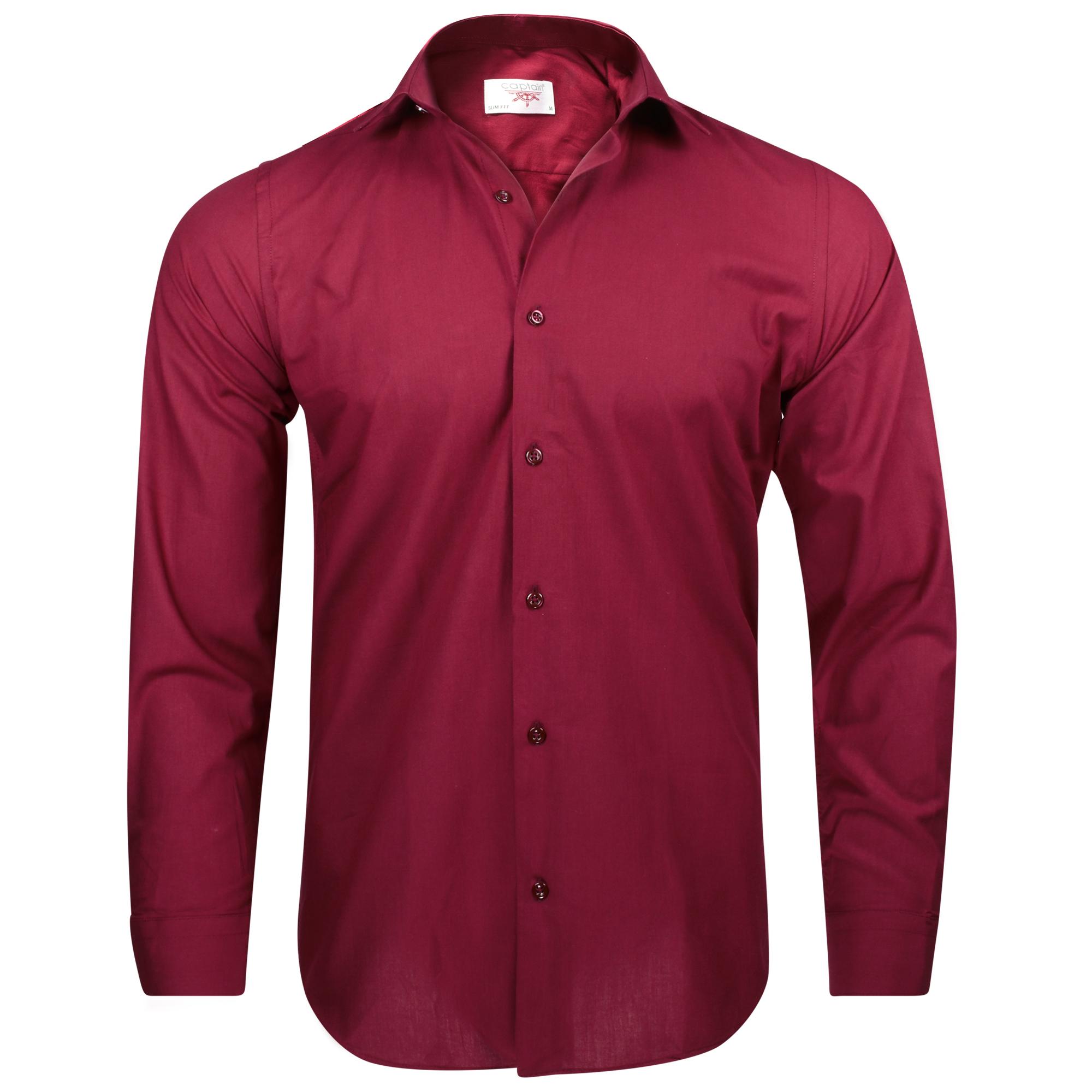 Captain Slim Fit Herren Hemden (in 30 verschiedenen Farben) 100% Baumwolle