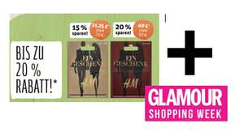 41€ für 60€ Einkauf bei H&M -> KOMBINATION: Glamour Shopping Week + REWE Gutscheinkarten