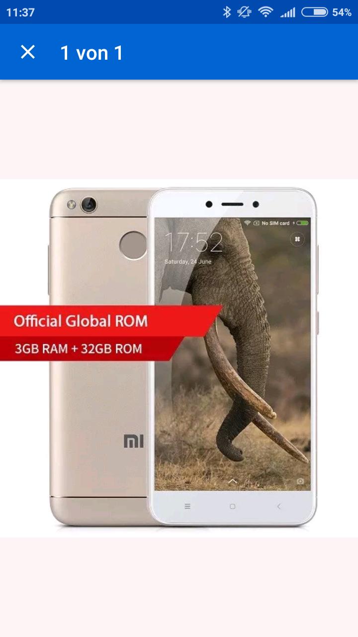 Xiaomi Redmi 4X 3/32GB, Global Version mit Band 20, Versand aus UK, Preis durch Gutscheincode für jeden, kein eBay Plus