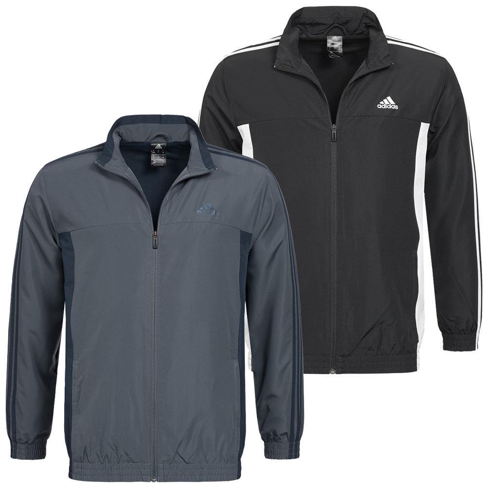 adidas Performance Basic 3 Stripes Jacke in Schwarz oder Grau