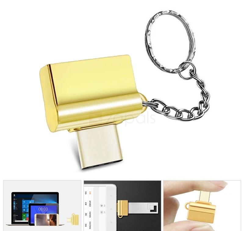 (zapals) OTG Adapter USB 3.1 Type-C zu USB 3.0 - Schlüsselanhänger - Random Color