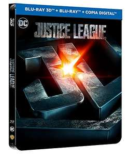 Justice League 3D + 2D Steelbook (geprägt) | 3D Bluray deutscher Ton (Amazon.es)
