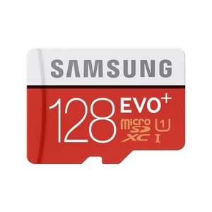 Samsung EVO Plus Advanced Performance Secure Digital micro SDXC-UHS I Speicherkarte, 128 GB, 80 MBytes/s Lesegeschwindigkeit Class 10 für €39,99 + 4,95 Versand
