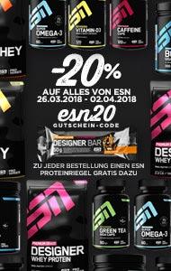 20 % auf ESN Produkte im Andro-Shop
