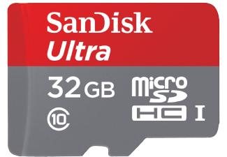 Sandisk Ultra microSDHC mit 32GB für 10€ versandkostenfrei [Saturn]