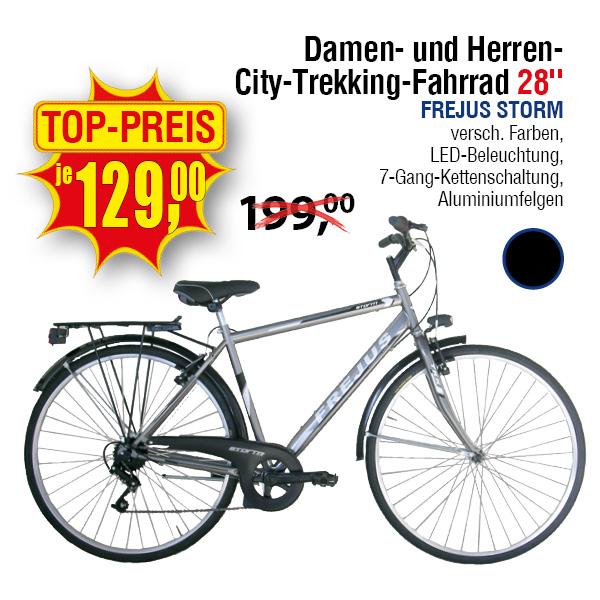 """[Centershop.de OFFLINE NRW, RLP, HES] Frejus Storm Damen- und Herren City-Trekking Fahrrad 28"""" 7-Gang"""
