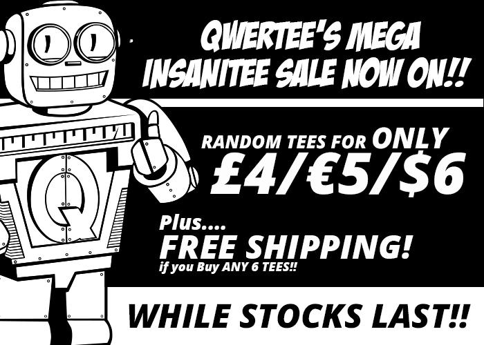 Qwertee InsaniTEE T-Shirt Sale 6 Random Shirts für 30€