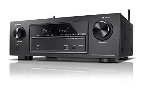 Denon AVRX1400H 7.2-Kanal AV-Receiver (HEOS Integration, Dolby Vision Kompatibilität, Dolby Atmos, dtsX, WLAN, Bluetooth, Amazon Music, Spotify Connect, 4K/60Hz 6 HDMI-Eingänge, 7x 145 W) schwarz