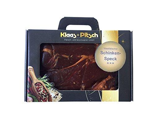 ( Amazon Prime ) Klaas + Pitsch Westfälischer Schinkenspeck im Präsentkoffer, 1er Pack (1 x 1.2 kg)