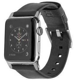 Hochwertiges Horween Echtlederarmband von Nomad für die Apple Watch