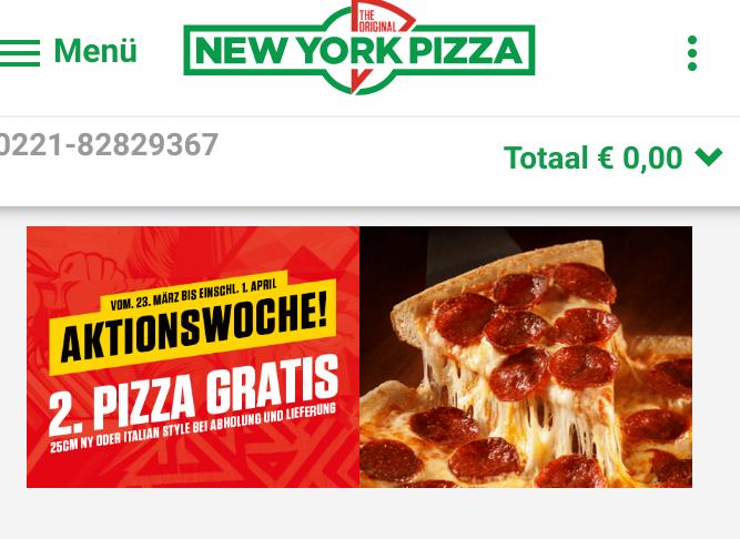 *Lokal Köln*  2. Pizza gratis