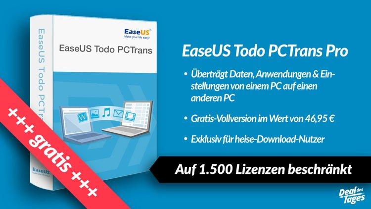 [heise.de] EaseUS Todo PCTrans Pro 9.8