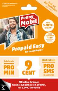 Congster/Penny Mobil - Kostenlose Messaging Option 1GB (max. 32 Kbit) GRATIS für Prepaid Easy