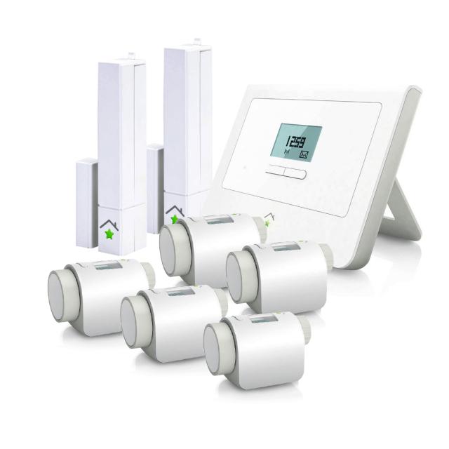 innogy SmartHome Paket Heizung Set & 2 Türsensoren / Fenstersensoren Smart Home