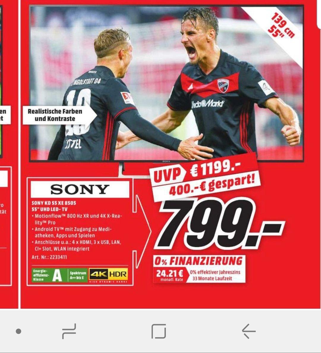 (Lokal MM Bochum Hofstede ) Sony KD55xe8505 für 799€