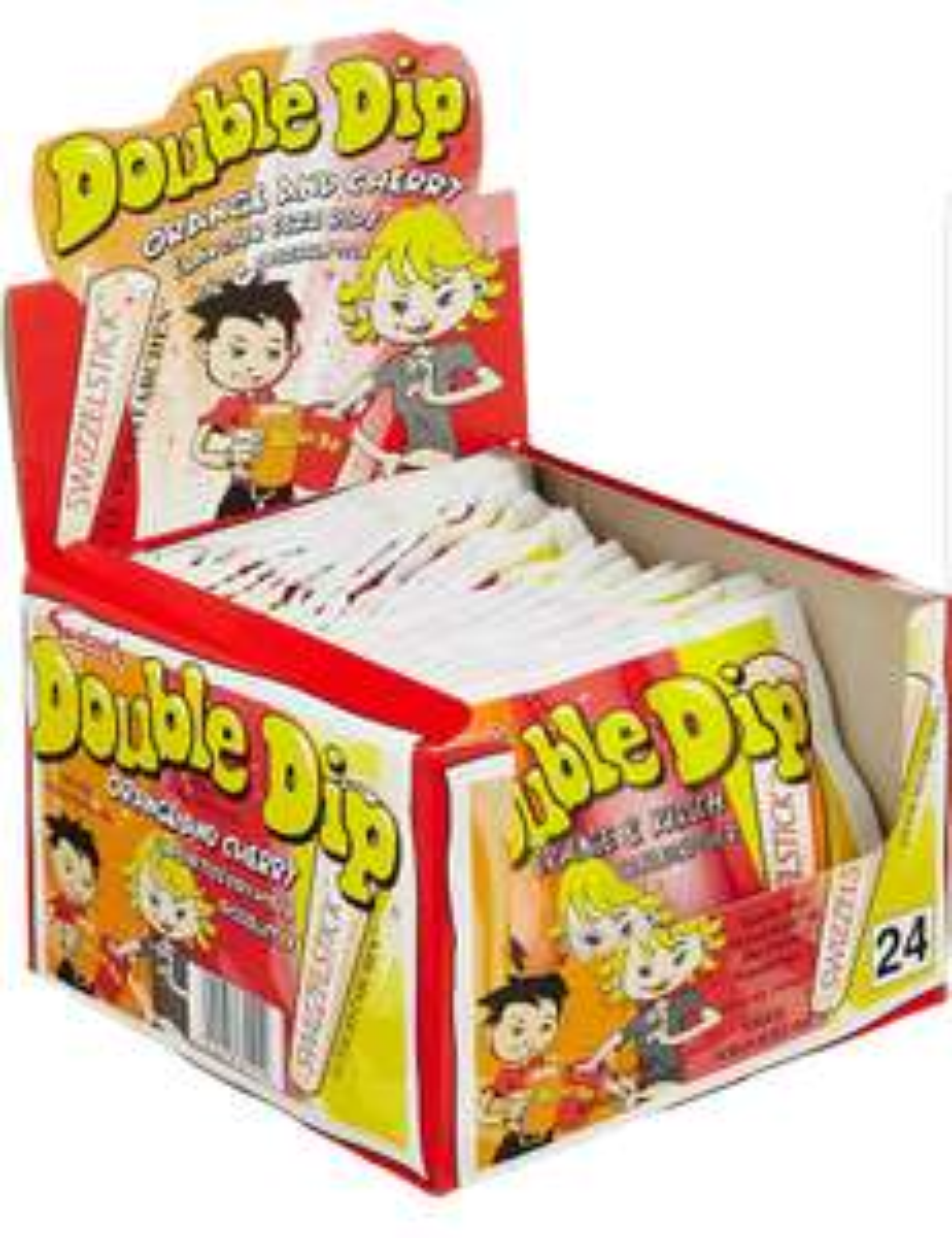 Dok Double Dip Schleckpulver, 24er Pack (24 x 18 g Packung)sparabo