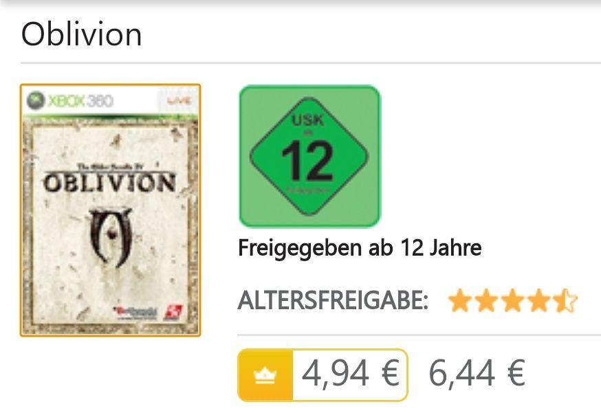 Oblivion im Microsoft Store auf 6,44€ (Gold 4,94€) reduziert!