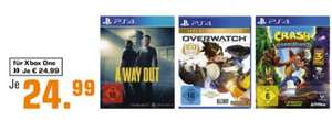 [Saturn] A Way Out (Playstation 4/Xbox One) // Overwatch Game of the Year Edition (Playstation 4/Xbox One) // Crash Bandicoot: N. Sane Trilogy (Playstation 4) für je 24,99€